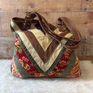 LEVIS Colorful Canvas Corduroy Floral Tote Bag